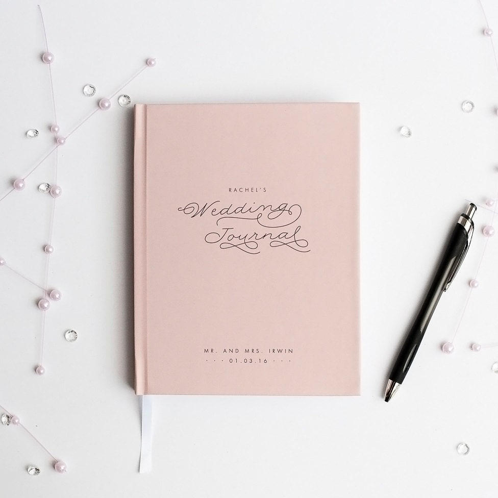 Wedding journal notebook wedding planner personalized custom zoom arubaitofo Image collections