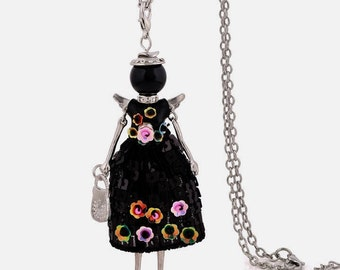 Wings Fashion Doll Pendant necklace,Vintage charms,women,daughters,friends