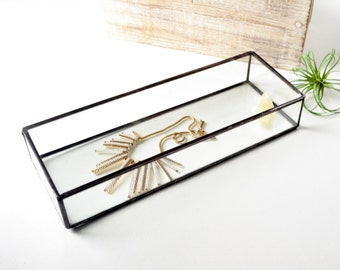 Glass Box Glass Display Box Glass Jewelry Box Wedding Display Box Clear Glass Jewelry Box