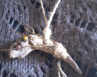 Necklace / necklace driftwood and stones 4