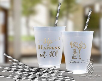 Birthday Party | Customizable Any Age Cups | social graces Co.