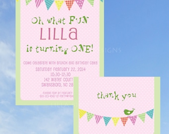 Banner and Bird Party Invitation