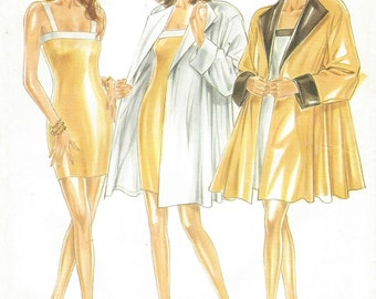 90s Womens Sexy Sheath Dress and Swing Jacket New Look Sewing Pattern 6714 Size 6 8 10 12 14 16 Bust 30 1/2 to 38 UnCut