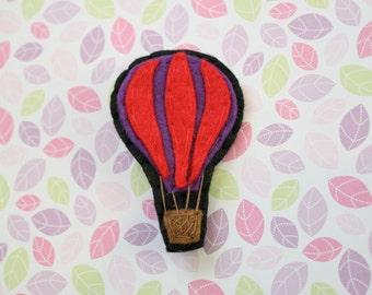 Hot Air Balloon Brooch / Pin