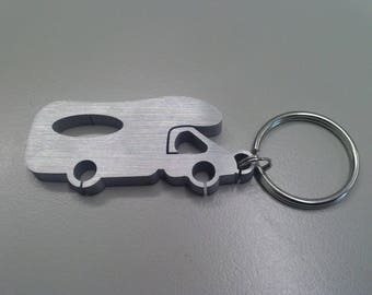 Motorhome, caravan, outdoor, keychain for campers and lovers of plein air in aluminium