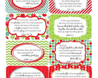 Small Christmas Scripture Cards or Gift Tags