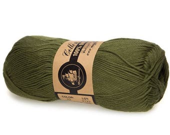 22 Olive Green Mayflower Organic Cotton 8/4 50g