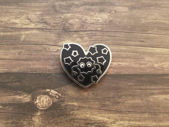 Soot Heart Pin