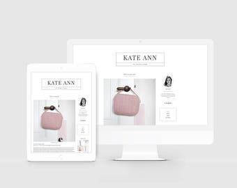 Fashion Blogger Template — Lifestyle Blog Design — Feminine Blogger Theme — Clean Blog Design — Photographer Portfolio — Modern Blog / Kate