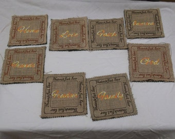 Set of Coasters for your Thanksgiving Table!