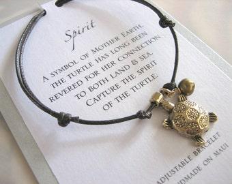 Spirit Adjustable Cord Bracelet - Gold