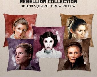 Women of the Rebellion: Princess Leia-inspired Throw Pillow