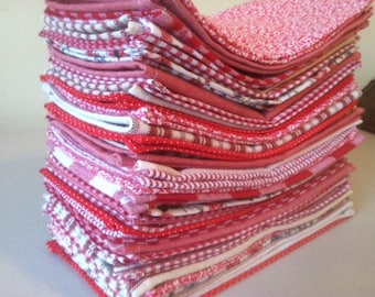 Red Cloth Napkins, Set of 8, by CHOW with ME