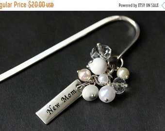 MOTHERS DAY SALE Beaded Bookmark. New Mother Bookmark. Baby Shower Gift Bookmark. New Baby Book Charm. Book Hook Bookmark. Handmade Bookmark