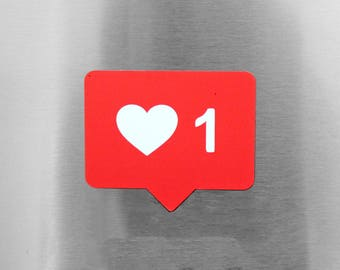 Instagram Like Notification Magnet | Hipster, Technology, Boho, Modern iPhone Refrigerator Friend Gift Holiday