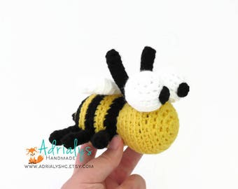 Crochet Bee | Crochet Animals | Crochet Toy | Amigurumi Bee | Bugs | Bumble Bee Toy | Crochet Amigurumi | Made to Order