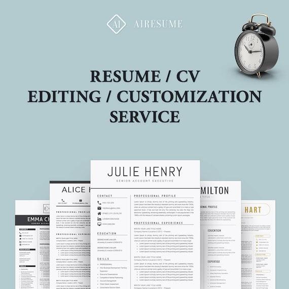 resume template editing customization - Resume Customization Reasons
