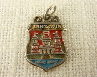 Vintage Sterling and Enamel Linz A/D Charm