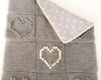 Bubble Heart Blanket