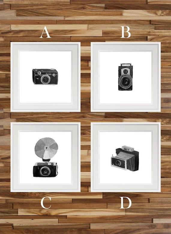 schwarz und wei die vintage kamera kunstdrucke. Black Bedroom Furniture Sets. Home Design Ideas