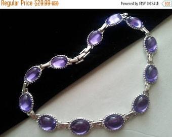 ON SALE Vintage Purple Lucite Necklace