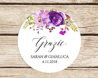 Thanksgiving Stickers, Adhesive Labels, Stickers, Personalized Stickers Wedding Floral Package, Favors Close