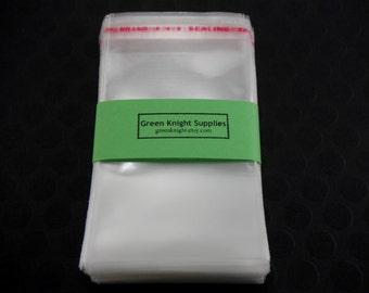 100 Pcs -  Clear Resealable Cellophane Bags 6cm wide x 9cm long CB001