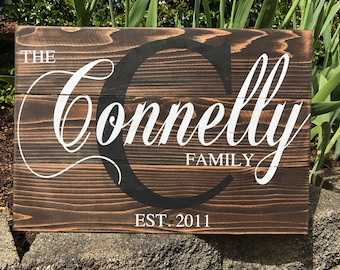 Personalized Family Name Sign Rustic Pallet Wood Monogram Wood 16.5x24, Fathers Day Gift