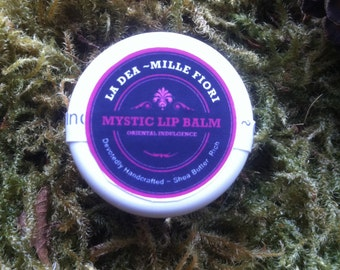 Mystic Lip Balm 5ml- Oriental Indulgence for the lips with Sandalwood, Ylang Ylang, Patchouli Rosewood, Ginger and Cardamon