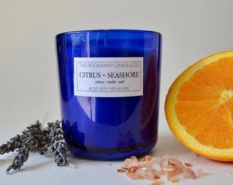 Citrus + Seashore Soy Candle, Handmade, Organic, Wholesale, Bulk
