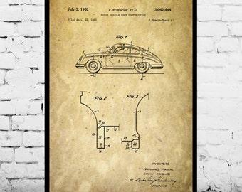 Porsche blueprint etsy au porsche old patent porsche old poster porsche old print porsche old art malvernweather Images