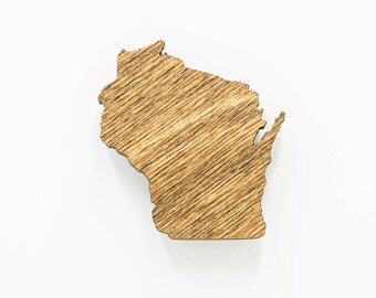 Wisconsin Wooden Magnet - WI State Magnet - State of Wisconsin Wooden Wisconsin Laser Cut Magnet - Wooden WI Charm - Wisconsin State Magnet