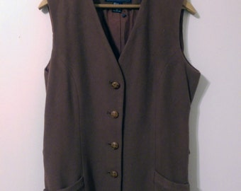 The Limited Cowgirl Vest with Leather Buttons and Fringe