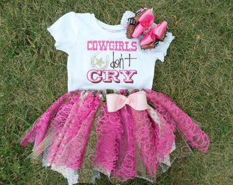 Cowgirls dont cry - New baby outfit Cowgirl Tutu Take home outfit Baby girl Boutique clothing Gifts Cowgirl outfit & Cowgirl baby outfit | Etsy