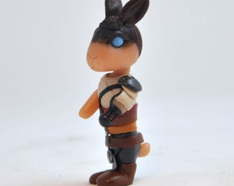 Imperator Furiosa inspired rabbit figurine from Mad Max