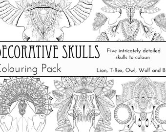 Decorative Skulls Colouring Pack