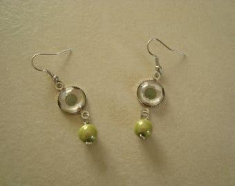 Boucles d'oreilles cabochon vert