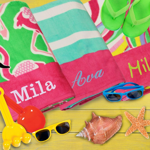 Butterfly Personalized Kids Beach Towel