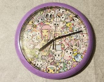 Tokidoki Wall Clock ooak