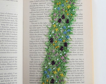 Machair bookmark: textile art, free machine embroidery