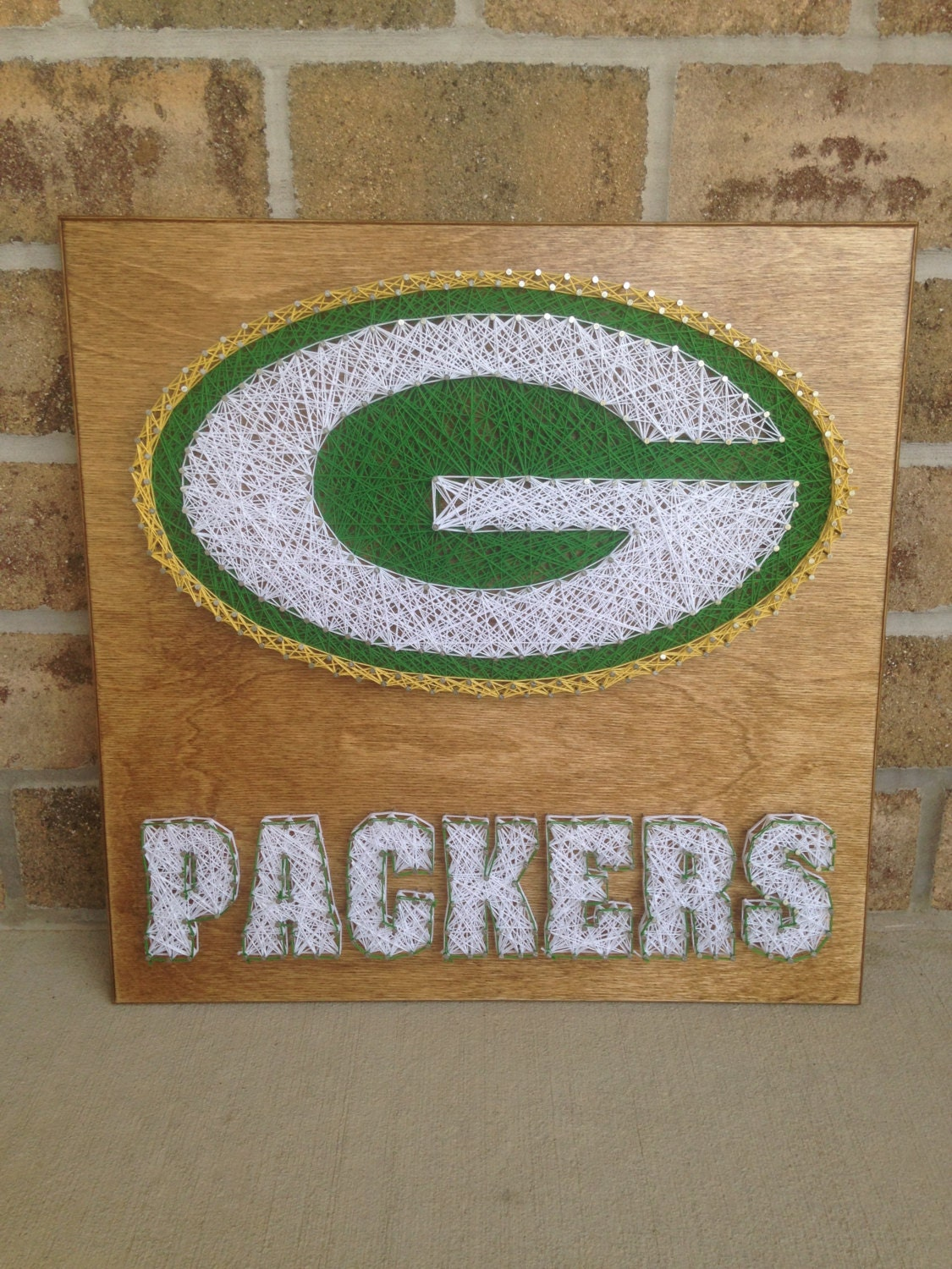 Custom Made to Order Green Bay Packers String Art Ready to