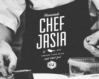 Custom Food Blog Logo Design    Blog Header Design    Food Logo    Custom Logo Design    Blog Branding    Custom Vintage Logo