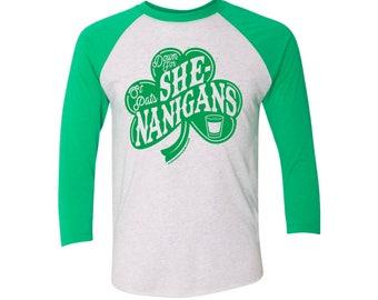 Down for Shenanigans baseball - St Patty's Day - St Patricks day shirt - Irish Shirt - Clover shirt - Shamrock shirt - irish gifts - Ireland