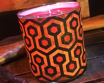 "Redrum Candle - ""Blood-Soaked Bourbon Apple"" Scented - Horror Candles"