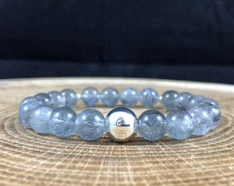 Phantom Quartz Bracelet, Celestial Jewelry, Mindfulness Gift For Her, Boho Yoga Jewellery, Stackable Bracelets, Summer Statement Jewelry