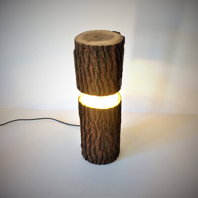 Log Lamp, Rustic Lamp, Log Light, Led Lamp, Led Log Light, Led Log Lamp,  Rustic Light, Rustic Lighting, Table Lamp, Desk Lamp,