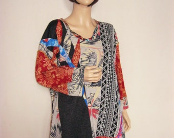 SALE   Plus Size to 4X  Long Tunic Short Dress