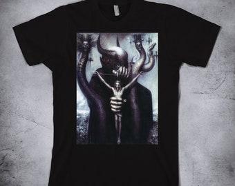 H.R. Giger - Satan I, mens t shirt, womens t shirt, Giger tshirt, Biomechanic shirt, Giger shirt