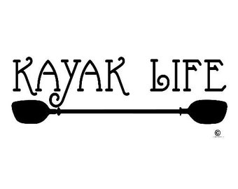 Kayak Vinyl Decal Sticker