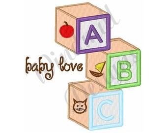 ABC Baby Love Blocks - Machine Embroidery Design